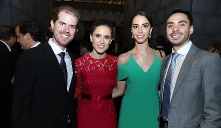 Juan Pablo González, María José Rangel, Mercedes Bárcena y Matías García.