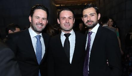 Alberto Rangel, Santiago Rangel y Andrés Allende.