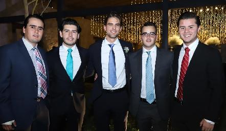 Ricardo Raymond, Gerardo Bocard, Gustavo Rangel, Eduardo Gómez y Ricardo Escobar.