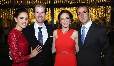 María José Rangel, Juan Pablo González, Valeria Rangel y Alejandro Villalobos.