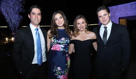 Alejandro González, Nadia Salazar, Brenda Magaña y Rubén Rangel.