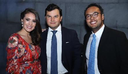 María Cecilia Herrera, Raúl Torres y Javier Campos.