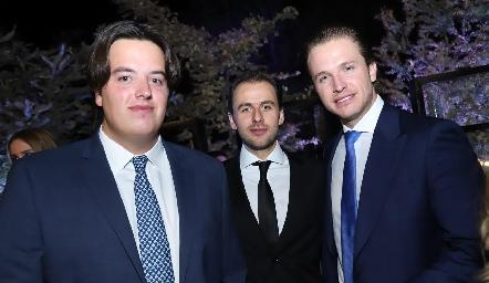 Javier Herrera, Javier Cortina y Chema Herrera.