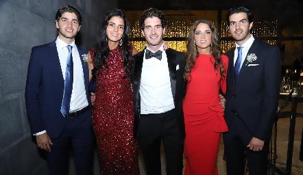Santiago, Fer, Chema, Luzde y Ricardo Gómez.