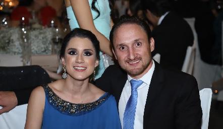 Erika Ríos y Fernando Rangel.