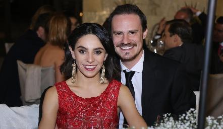 Adriana de la Maza y Pato Valle.