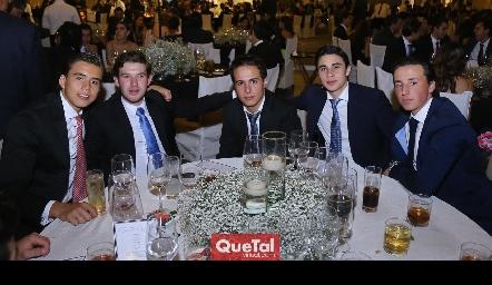 Oscar Ruíz, Oscar Mendizábal, César Flores, Marcelo Reverte y Rodrigo Navarro.
