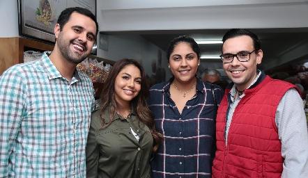 Alejandro Oros, Lorena González, Gabriela Villanueva y Juan Carlos Barrera.