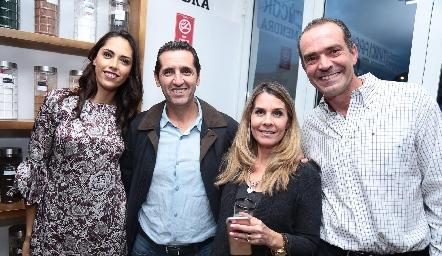 Ana Villanueva, Miguel López, Alicia Crespo y Juan Cuétara.