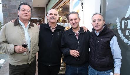 Antonio López, José Luis Musa, Javier Adrián y Luis Javier Vera.