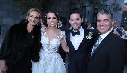 Beatriz Rangel, Gaby Díaz Infante, Abraham Salgado y Mario Martell.
