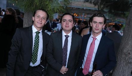 Franco Safont, Toño Guzmán e Iñaki Mendizábal.