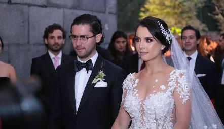 Abrahm Salgado y Gaby Díaz Infante ya son esposos.
