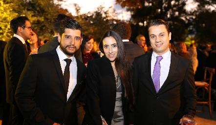 Héctor Zertuche, Alejandra Briseño y Miguel Caballero.