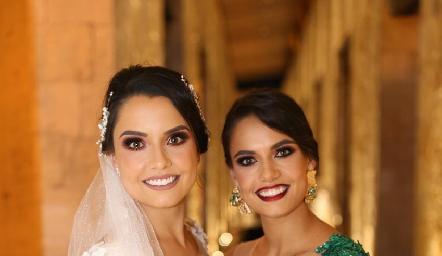 Las hermanas Gaby y Marcela Díaz Infante Andrés.