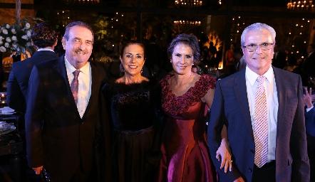 Guillermo Borbolla, Chilín Corripio, Carmen Andrés y Claudio Meade.