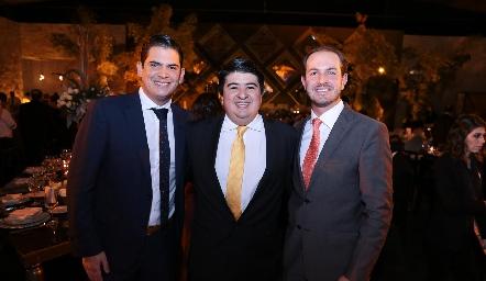 Antonio Morales, Rolando Domínguez y Octavio Aguillón.