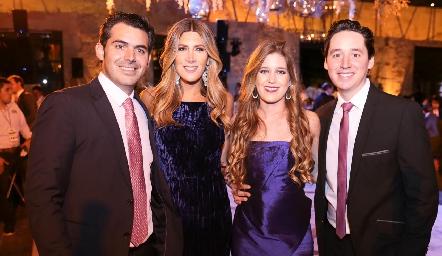 Daniel Dauajare, Martha de la Rosa, Araceli Palau y Adrián Muñiz.