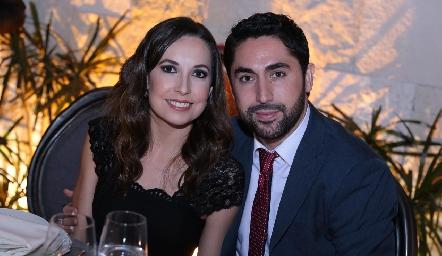 Mónica Ramírez y Edgar Abud.