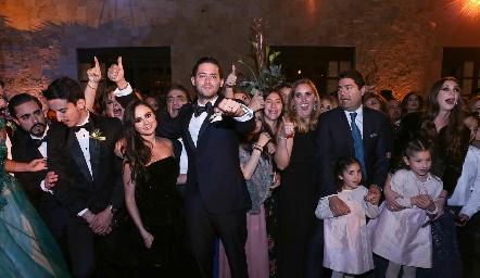 Abraham Salgado en su boda.