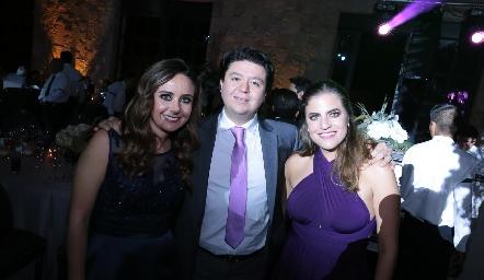 Ana Gaby Díaz Infante, Bolillo Zollino y Danitza Lozano.