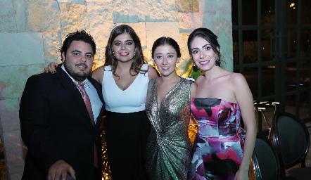 David González, María José Motilla, Aurora Martínez y Andrea Lorca.