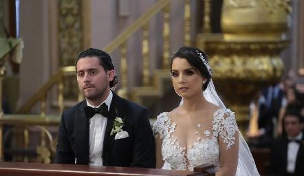 Abrahm Salgado y Gaby Díaz Infante.