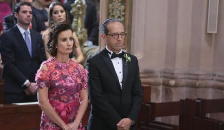 Gabriela y Enrique Díaz Infante.