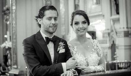 Abraham Salgado y Gaby Díaz Infante ya son esposos.