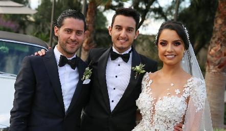 Abraham Salgado, Enrique y Ana Gaby Díaz Infante.
