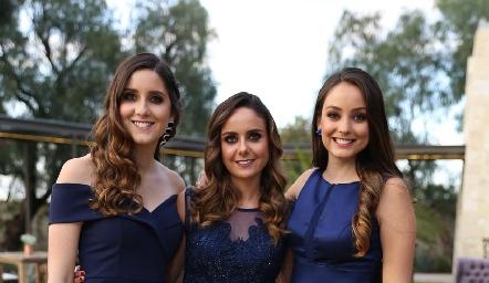 Miriam, Ana Gaby y Paloma Díaz Infante.