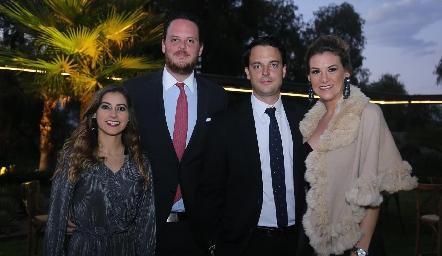 Conchita Stahl, Rodrigo Ruiz, Miguel Ruiz y Benilde Hernández.