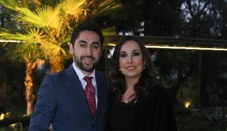 Edgar Abud y Mónica Ramírez.