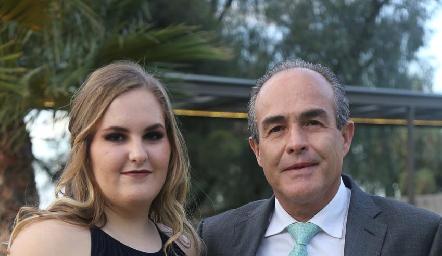 Alejandra y Felipe González.