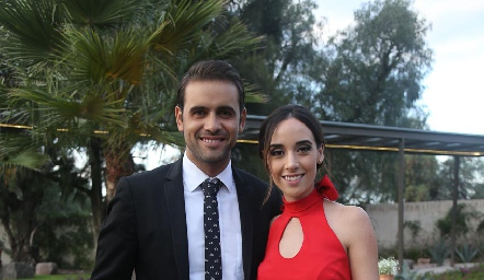Iker Monsech y Mariana Aguirre.