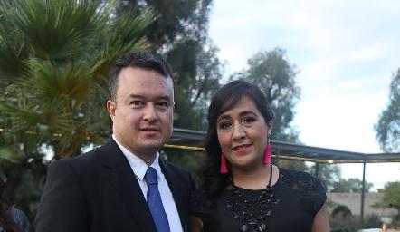 Patricio Rico y Daniela Navarrete.