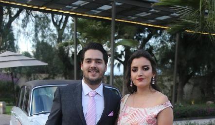 Raúl Quiroz y Katy Somohano.