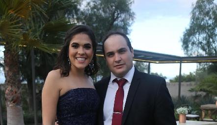 July Valle y Mauricio Suárez.