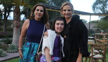 Graciela Torres, Mónica Quintanilla y Beatriz Rangel.