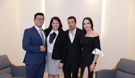 Un gran equipo, Julio Donjuan, Erika Domínguez, Felipe Peña y Yazmín Dávila.