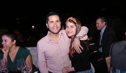 Oscar Benítez y María Solares.