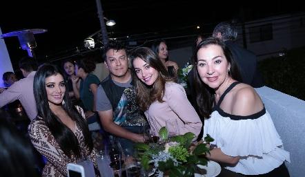 Aurora Mancilla, Paco Mercado, Fernanda Zepeda y Lety Villarreal.