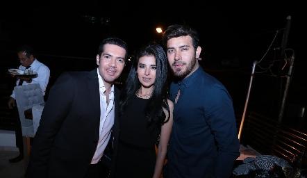 Felipe Peña, Sandra Herrera y Marco Dhaí Macías.