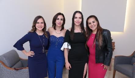 Fernanda Meizoso, Alejandra Lozano, Yazmín Dávila y Liz Rentería.