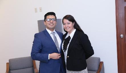 Julio Donjuan y Erika Domínguez.