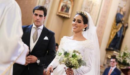 La llegada de la novia.