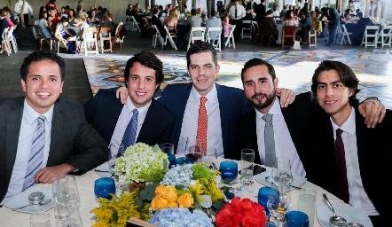 Jesús Rodríguez, Javier Sánchez, Alfonso Labarthe, Héctor Hinojosa y Mario Martínez.