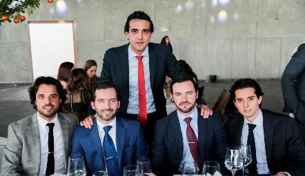 Samuel Romo, Joaquín Olmos, Horacio Tobías, Luis Antonio Mahbub y Armando Lasso de la Vega.
