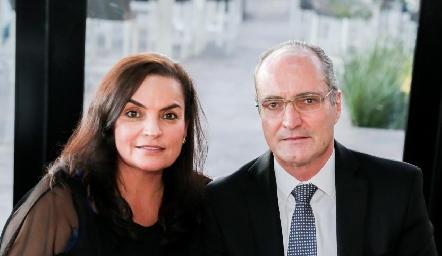 Adriana Díaz Infante y Carlos Saiz.