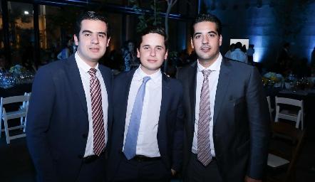Rodolfo Ortega, Agustín Soberón y José Antonio Alonso.